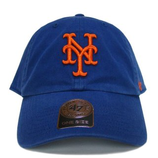 """'47 BRAND """"NEW YORK METS"""" CLEAN UP TWILL CAP BLUE"""