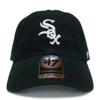 """'47 BRAND """"CHICAGO WHITE SOX"""" CLEAN UP TWILL CAP BLACK"""