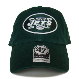 """'47 BRAND """"NEW YORK JETS"""" CLEAN UP TWILL CAP GREEN"""