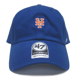 """'47 BRAND """"NEW YORK METS"""" CENTERFIELD CLEAN UP TWILL CAP BLUE"""