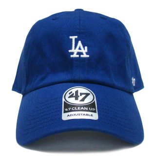 """'47 BRAND """"LOS ANGELS DODGERS"""" CENTERFIELD CLEAN UP TWILL CAP BLUE"""