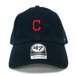 """'47 BRAND """"CLEVELAND INDIANS"""" CENTERFIELD CLEAN UP TWILL CAP NAVY"""