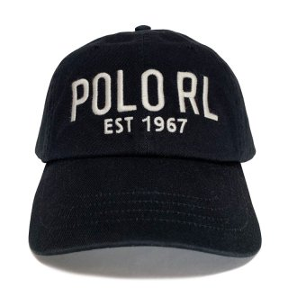 POLO RALPH LAUREN EST 1967 6 PANEL CAP BLACK