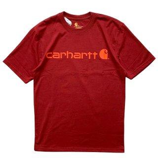 CARHARTT LOGO TEE SUN DRIED TOMATO HEATHER