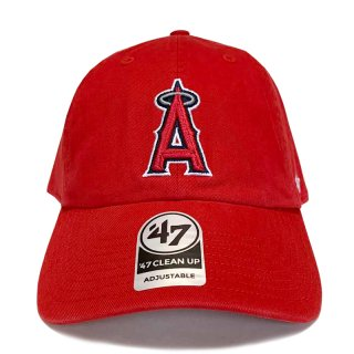 """'47 BRAND """"LOS ANGELES ANGELS"""" CLEAN UP TWILL CAP RED"""