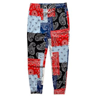 ELWOOD STRETCH TWILL JOGGER PATCHWORK PAISLEY
