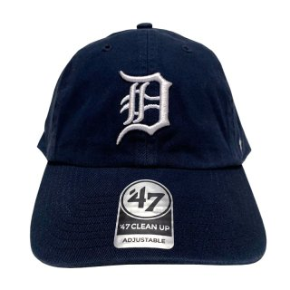 """'47 BRAND """"DETROIT TIGERS"""" CLEAN UP TWILL CAP NAVY"""