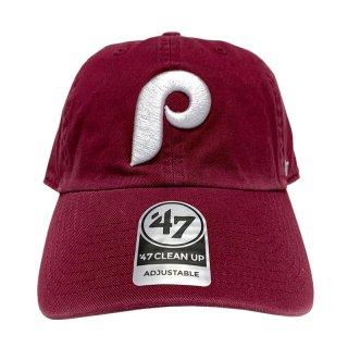 "'47 BRAND ""PHILADELPHIA PHILLIES"" CLEAN UP TWILL CAP BURGUNDY"