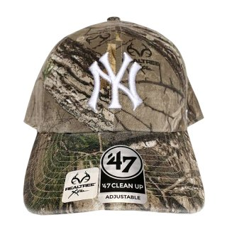 """'47 BRAND """"NEW YORK YANKEES"""" CLEAN UP TWILL CAP REAL TREE CAMO"""