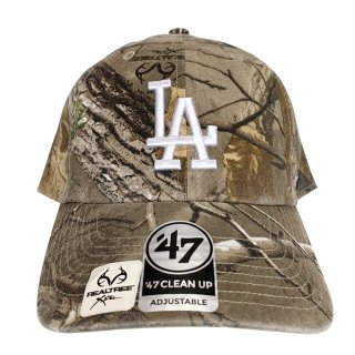 """'47 BRAND """"LOS ANGELS DODGERS"""" CLEAN UP TWILL CAP REAL TREE CAMO"""