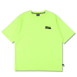 FIRST DOWN EMBROIDERY TEE NEON YELLOW