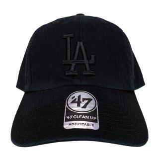 "'47 BRAND ""LOS ANGELS DODGERS"" CLEAN UP TWILL CAP BLACK"