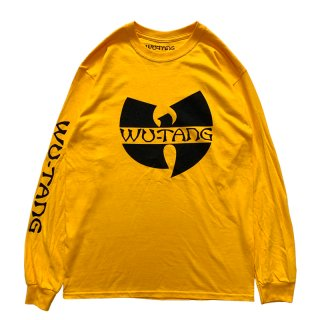 WU TANG CLAN WU LOGO LONG SLEEVE TEE YELLOW