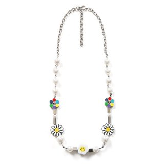 SALUTE FLOWER ANARCHY SMILE NECKLACE MULTI