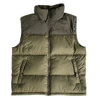 THE NORTH FACE ECO NUPTSE DOWN VEST BURNT OLIVE GREEN NEW TAUPE GREEN