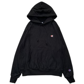 CHAMPION REVERSE WEAVE PULLOVER HOODY BLACK