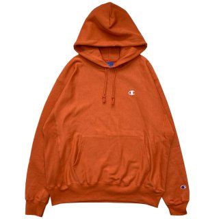 CHAMPION REVERSE WEAVE PULLOVER HOODY AMBITIOUS ORANGE