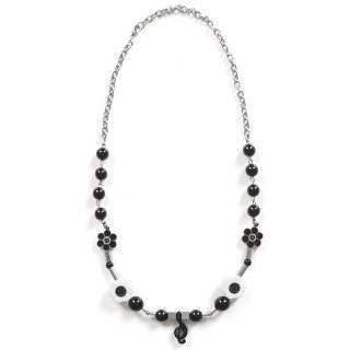 SALUTE X SHANE GONZALES MUSIC A NECKLACE BLACK