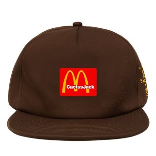 TRAVIS SCOTT x McDonald's CJ ARCHES CAP BROWN