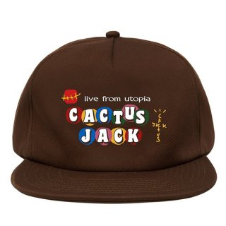TRAVIS SCOTT x McDonald's CJ LIVE FROM UTOPIA CAP BROWN