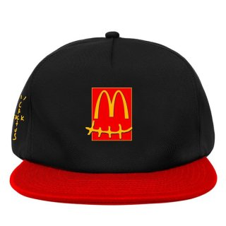 TRAVIS SCOTT x McDonald's SMILE CAP BLACK RED