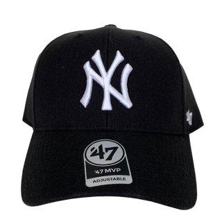 "'47 BRAND ""NEW YORK YANKEES"" MVP CAP BLACK WHITE"