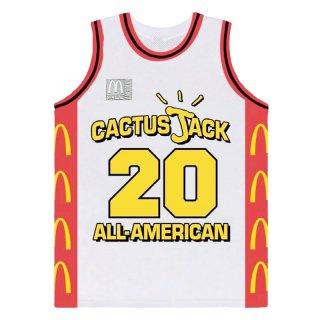 TRAVIS SCOTT x McDonald's CACTUS JACK ALL-AMERICAN JERSEY WHITE