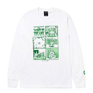 HUF 420 COLLECTION DAY IN THE LIFE L/S TEE WHITE