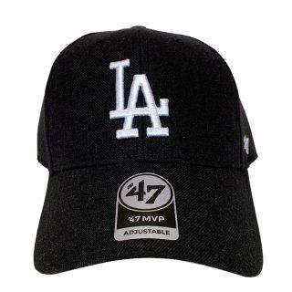 "'47 BRAND ""LOS ANGELS DODGERS"" MVP CAP BLACK WHITE"