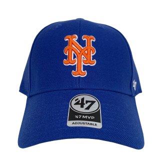 """'47 BRAND """"NEW YORK METS"""" MVP CAP BLUE WHITE"""