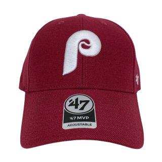 "'47 BRAND ""PHILADELPHIA PHILLIES"" MVP CAP BURGUNDY"
