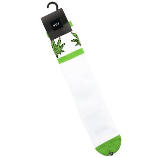 HUF 420 COLLECTION GREEN BUDDY ATHLETIC SOCK WHITE