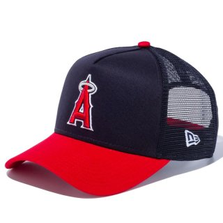 NEW ERA 9FORTY A-FRAME TRUCKER LOS ANGELES ANGELS NAVY RED