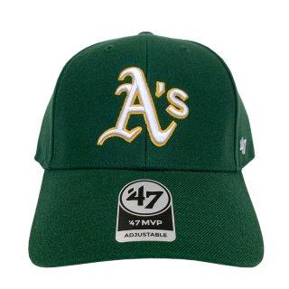 "'47 BRAND ""OAKLAND ATHLETICS"" MVP CAP DARK GREEN"