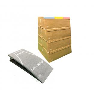 【受注生産】ソフトとび箱・4段+ロイター板(大)セット