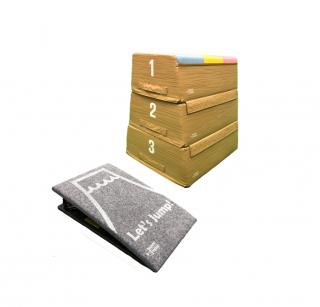 【受注生産】ソフトとび箱・3段+ロイター板(小)セット