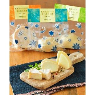 【佐渡乳業】農場ナチュラルチーズ雪の花みそ漬け3種セット