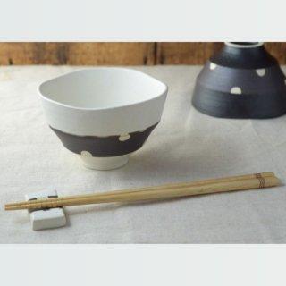美濃焼 チョコ削り ご飯茶わん(大)
