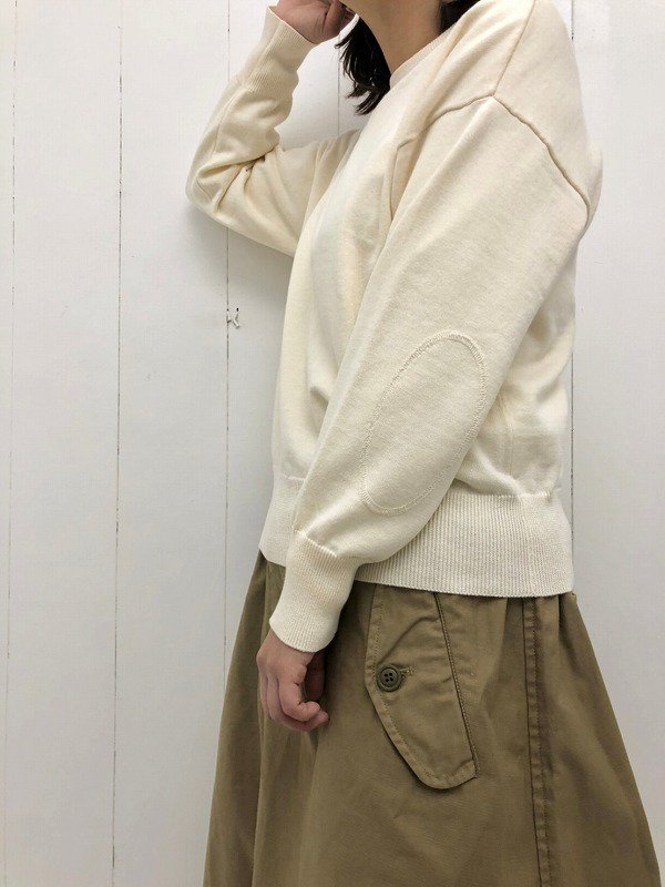 ELBOW PATCH KNIT PULL OVER