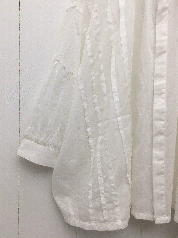 supima cotton ピンタックブラウス
