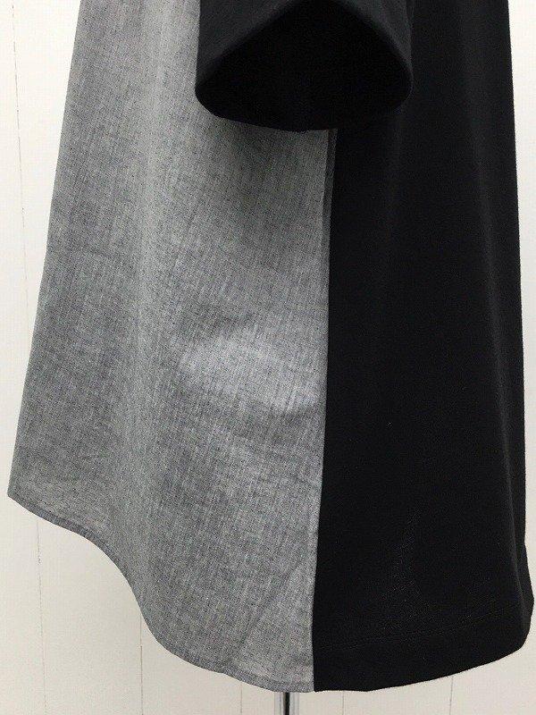ソフティコットン天竺 × シャンブレー AラインTシャツ
