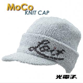光電子®モコニットキャップ【moku white】
