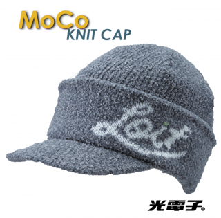 光電子®モコニットキャップ【moku grey】