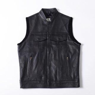 63Leathers Original Leather Vest LJV(スタンドカラー クラブスタイルレザーベスト)