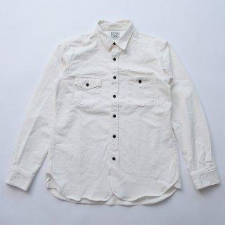 Cycle Works Original white herringbone stretch oxford shirts 2018AW