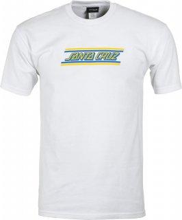 SANTA CRUZ Check Strip HueT-Shirts サンタクルーズ チェックストリップTシャツ(ホワイト)