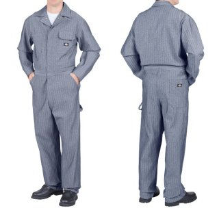 <img class='new_mark_img1' src='https://img.shop-pro.jp/img/new/icons25.gif' style='border:none;display:inline;margin:0px;padding:0px;width:auto;' />Dickies Fisher Stripe Coverall  #48977FS フィッシャーストライプコットンカバーオール (つなぎ  ヘリンボーン)