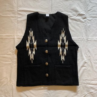 <img class='new_mark_img1' src='https://img.shop-pro.jp/img/new/icons1.gif' style='border:none;display:inline;margin:0px;padding:0px;width:auto;' />Farmer's Special customized wool vest ファーマーズ別注 ウールベスト ネイティブ チマヨ柄 ラグベスト