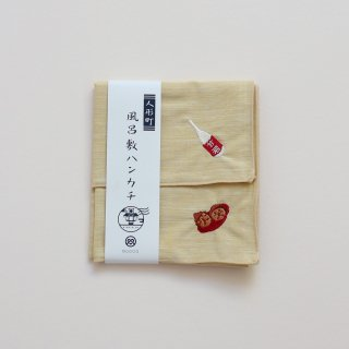 風呂敷ハンカチ 人形町×「人形焼きと甘酒」