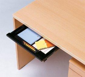 Garage パソコンデスク用 A4サイズトレ-引出し 鍵付き GF−A4TH−K 黒 ブラック